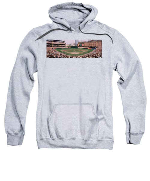 High Angle View Of A Baseball Field Sweatshirt