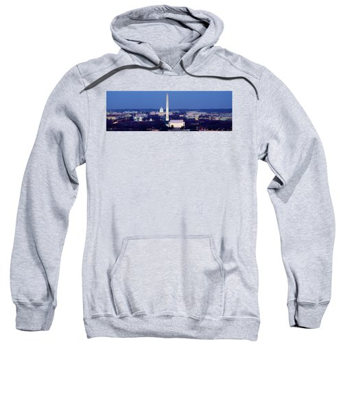 High Angle View Of A City, Washington Sweatshirt