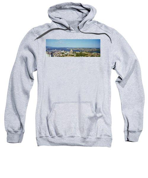 High Angle View Of A Cityscape, Chateau Sweatshirt