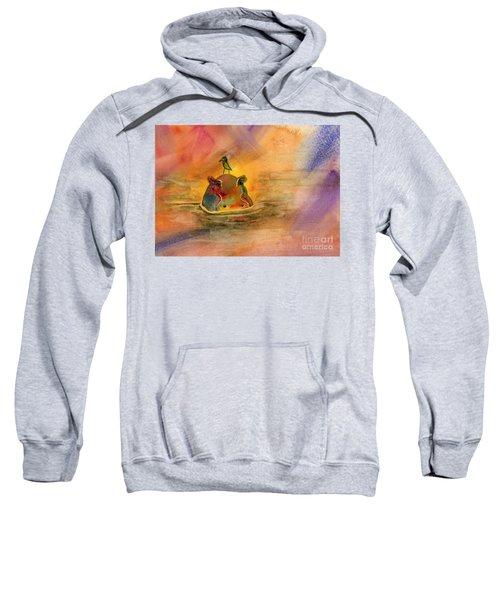 Hippo Birdie Sweatshirt by Amy Kirkpatrick