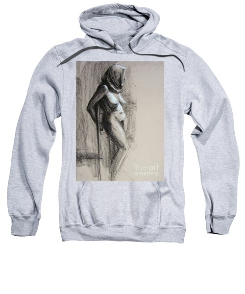 Sweatshirt featuring the drawing Hood by Gabrielle Wilson-Sealy