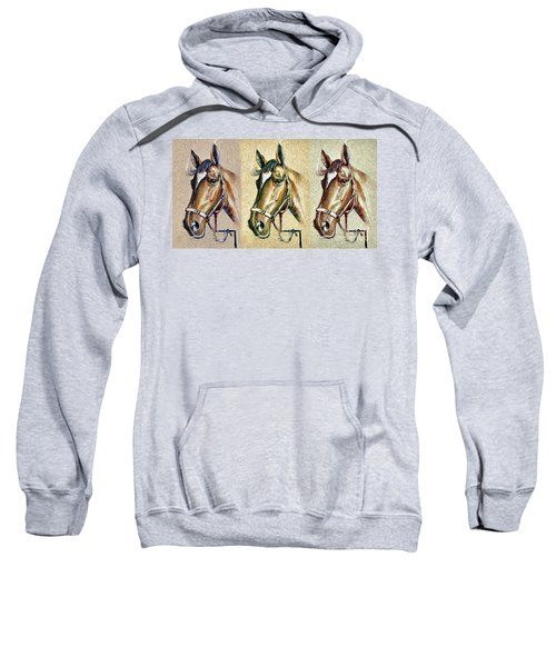 Horses Hand Drawing Sweatshirt