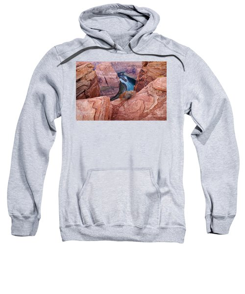 Sweatshirt featuring the photograph Horseshoe Bend At Dawn by Mae Wertz