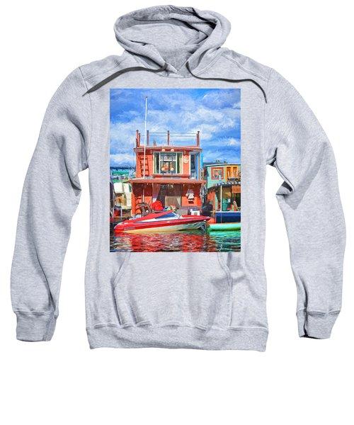 Houseboat #2 - Lake Union - Seattle Sweatshirt