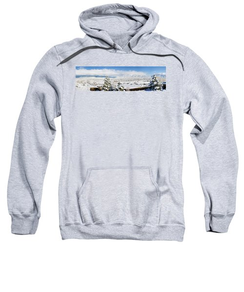 Houses And Trees Covered With Snow Sweatshirt
