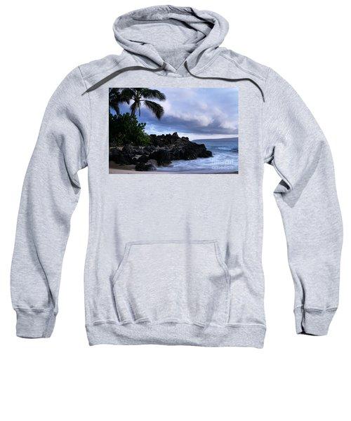 I Ke Kai Hawanawana Eia Kuu Lei Aloha - Paako Beach Maui Hawaii Sweatshirt by Sharon Mau