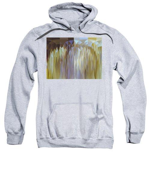 Sweatshirt featuring the digital art Icy Blast by Mihaela Stancu