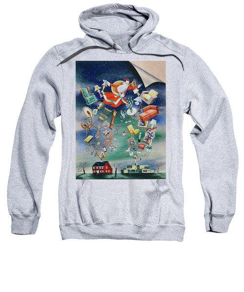 Illustration Of Santa Claus Sweatshirt