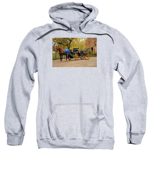 Immaculate Horse And Carriage Bruges Belgium Sweatshirt
