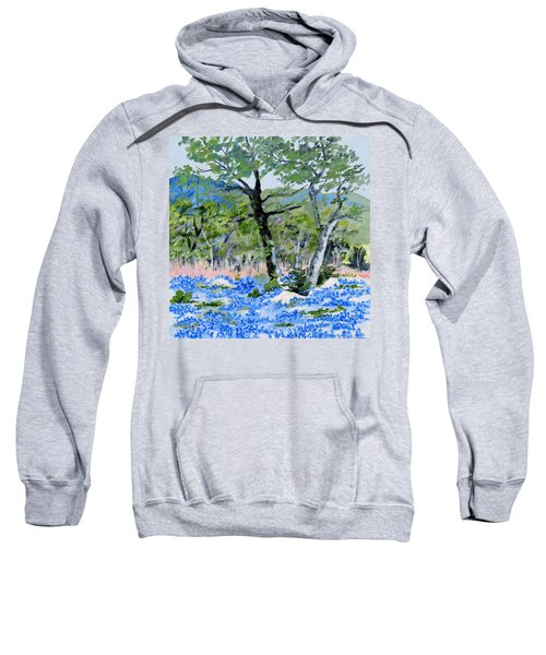 In April-texas Bluebonnets Sweatshirt