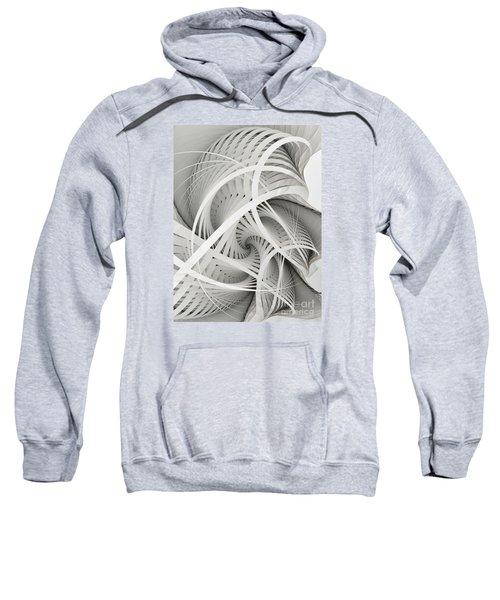 In Betweens-white Fractal Spiral Sweatshirt