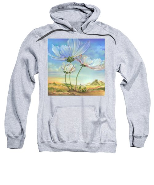 In The Half-shadow Of Wild Flowers Sweatshirt