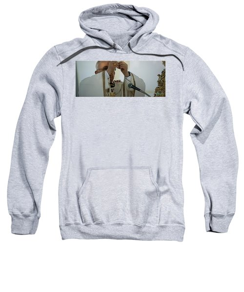 Sweatshirt featuring the photograph Inauguration Pope Francis Vatican  Rom 19 February 2013  by Colette V Hera  Guggenheim