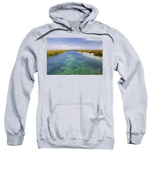 Inlet Leading To Caribbean Ocean Sweatshirt