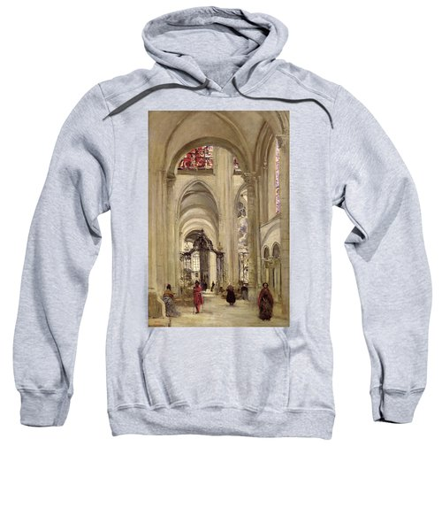 Interior Of The Cathedral Of St. Etienne, Sens Sweatshirt