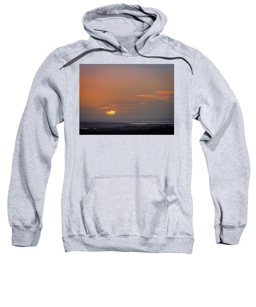 Sweatshirt featuring the photograph Irish Sunrise Scattering Light Over Shannon River Valley by James Truett