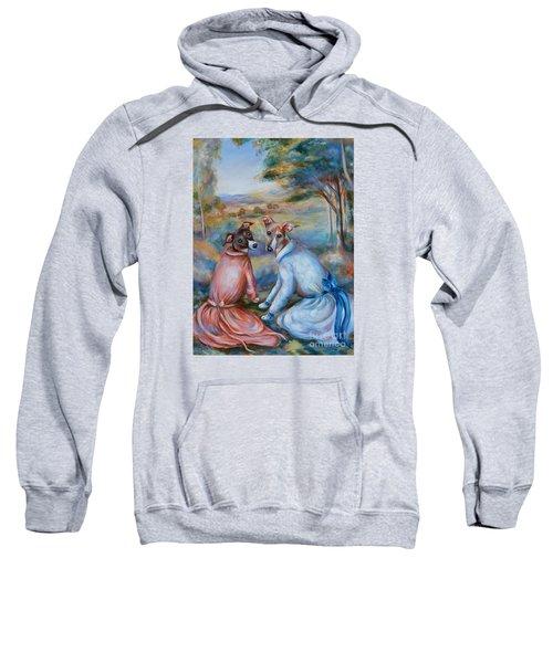 Italian Greyhounds Renoir Style Sweatshirt