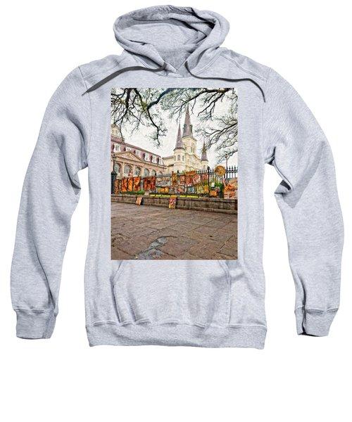 Jackson Square Winter Impasto Sweatshirt