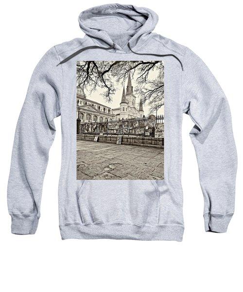 Jackson Square Winter Sepia Sweatshirt