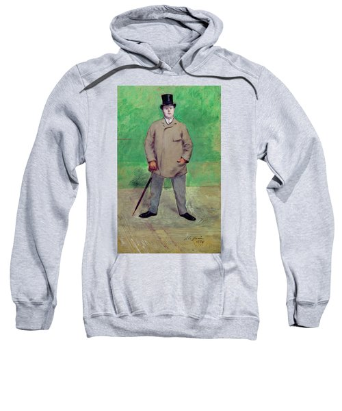 Jacques-emile Blanche 1861-1942 1884 Oil On Card Sweatshirt