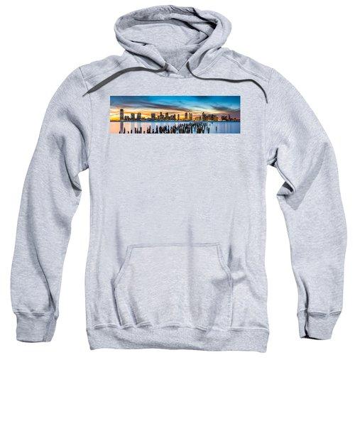 Jersey City Panorama At Sunset Sweatshirt