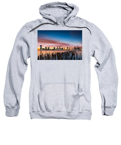 Jersey City Skyline At Sunset Sweatshirt