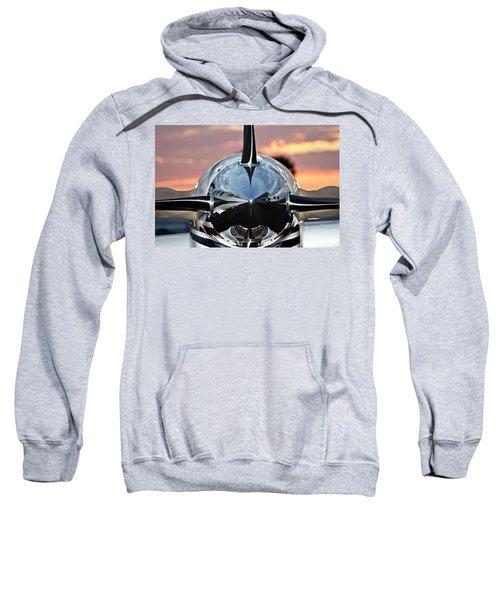 Airplane At Sunset Sweatshirt