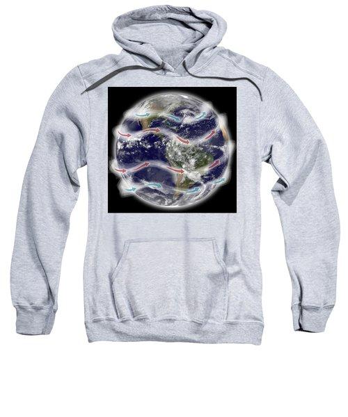 Jet Stream, Illustration Sweatshirt