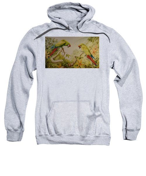 Jewels Of The Rain Forest  Military Macaws Sweatshirt