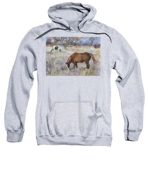 Jill's Horses On A November Day Sweatshirt