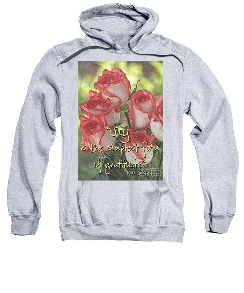 Joyful Gratitude Sweatshirt by Peggy Hughes