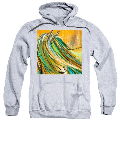 Joyous Soul- Yellow And Turquoise Artwork Sweatshirt