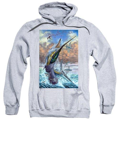 Jumping Sailfish And Flying Fishes Sweatshirt