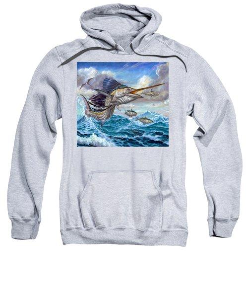 Jumping Sailfish And Small Fish Sweatshirt