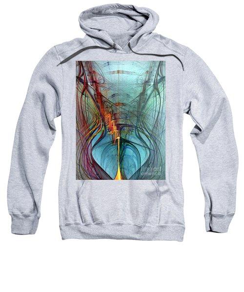 Just A Melody-abstract Art Sweatshirt
