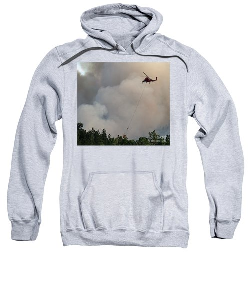 K-max Helicopter On Myrtle Fire Sweatshirt