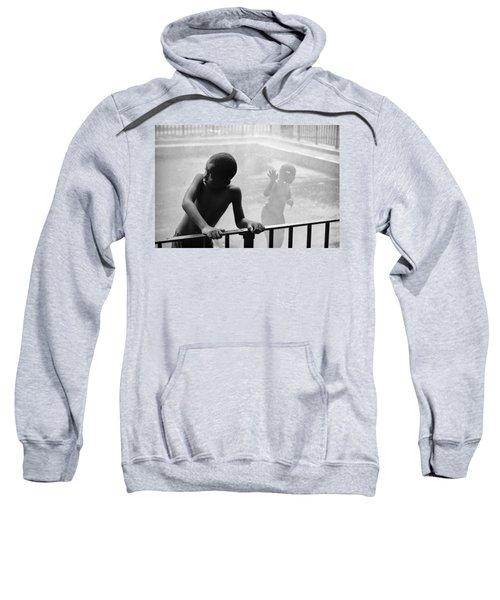 Kid In Sprinkler Sweatshirt