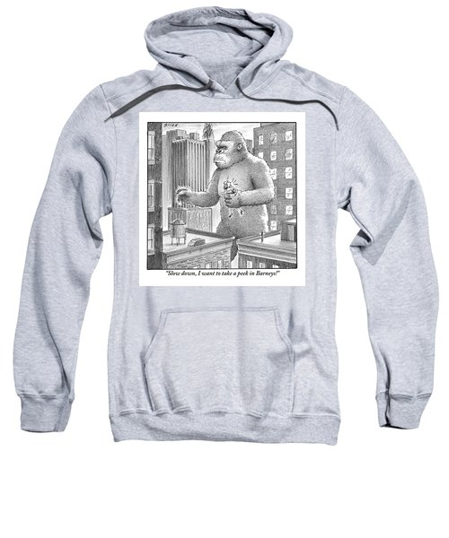 King Kong Stands In A Large City Sweatshirt
