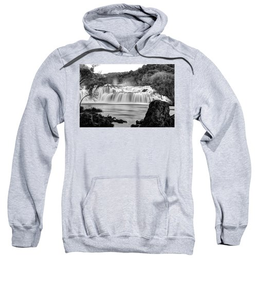 Krka Waterfalls Bw Sweatshirt