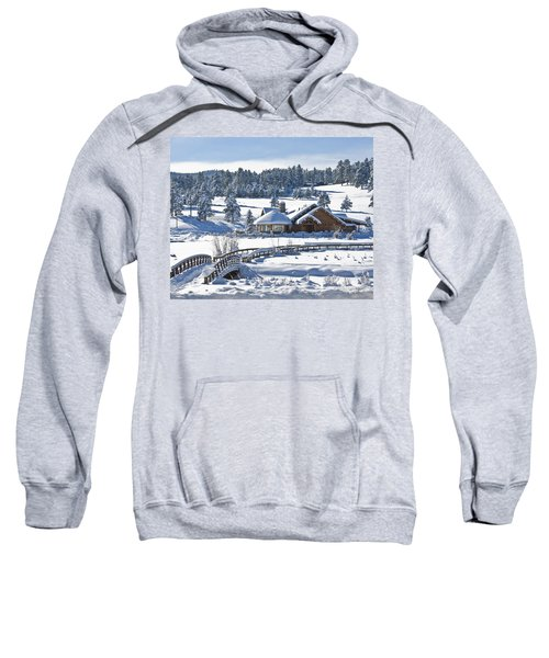 Lake House In Snow Sweatshirt