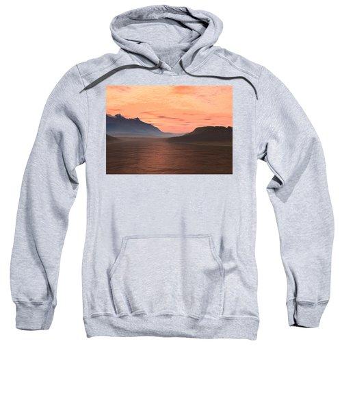 Sweatshirt featuring the digital art Lake Sunset 1 by Judi Suni Hall