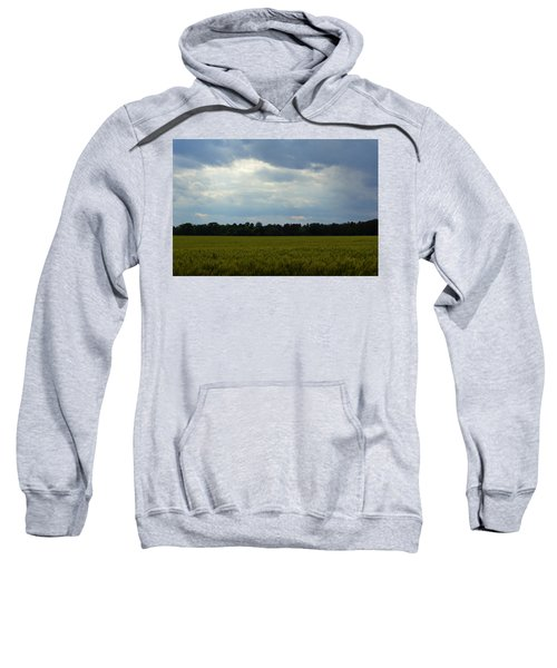 Sweatshirt featuring the photograph Late Spring Wheat by Kim Pate