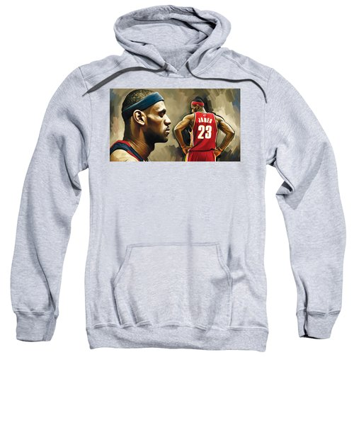 Lebron James Artwork 1 Sweatshirt by Sheraz A