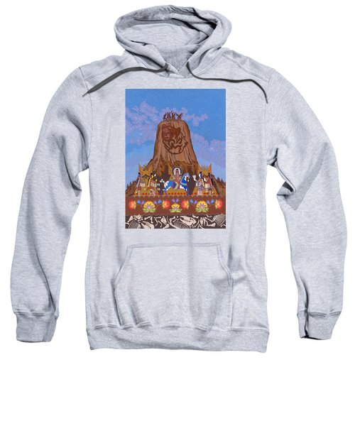 Sweatshirt featuring the painting Legend Of Bear's Tipi by Chholing Taha