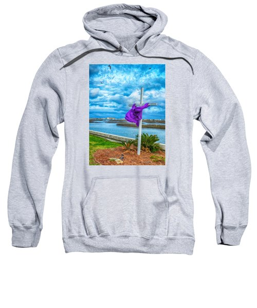 Sweatshirt featuring the photograph Lentin Cross by Bill Barber