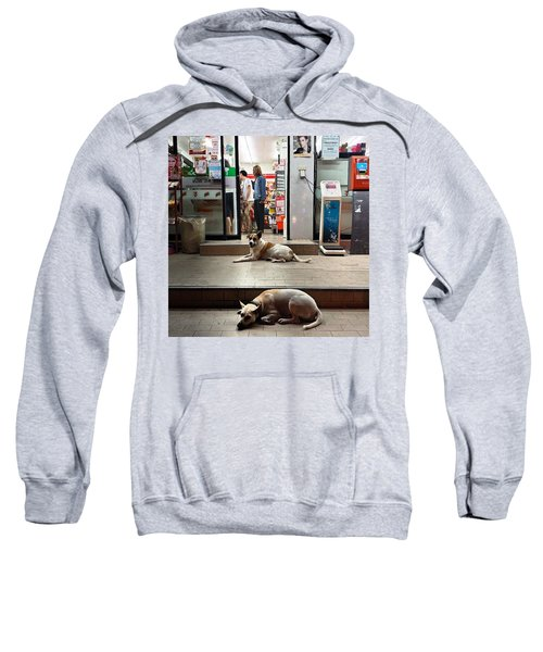 Sweatshirt featuring the photograph Let Sleeping Dogs Lie Where They May by Mr Photojimsf