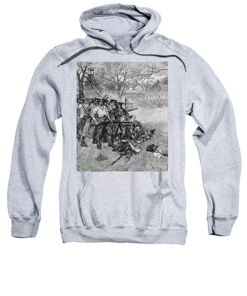 Lexington Green - If They Want War, It May As Well Begin Here, Engraved By F.h. Wellington Sweatshirt
