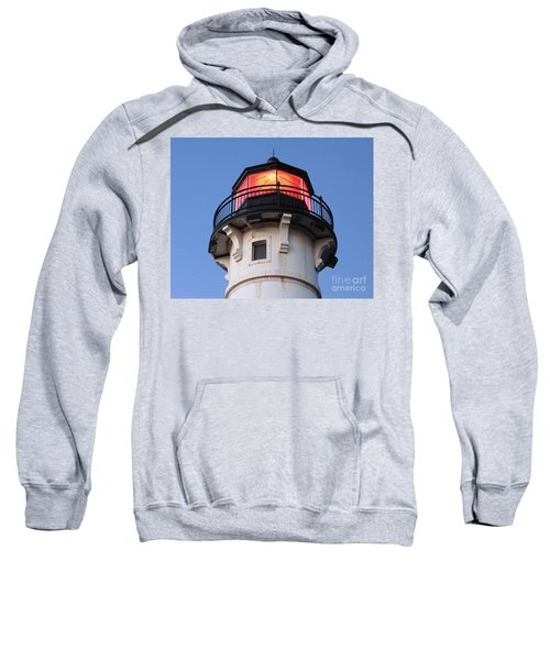 Lighthouse With The Lights On Sweatshirt