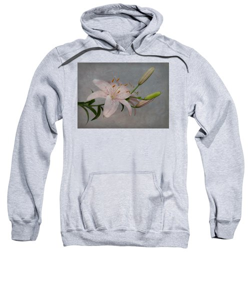 Pink Lily With Texture Sweatshirt