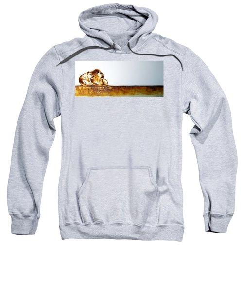 Lion And Lioness - Original Artwork Sweatshirt